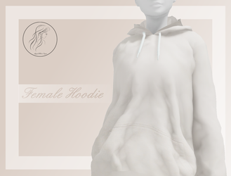 [MMD] Female Hoodie (+DL) by AppleWaterSugar