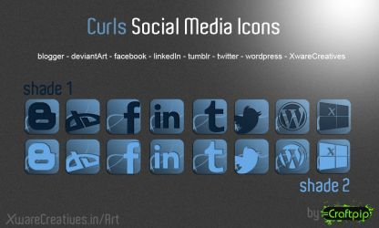Curls Social Media Icons by CreativeZombic