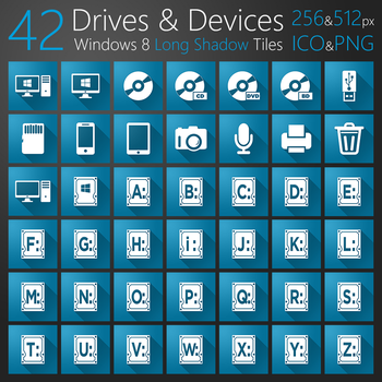 Drives and Devices Long Shadow Tiles by atty12