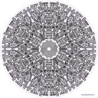 Mandala drawing 23 by Mandala-Jim