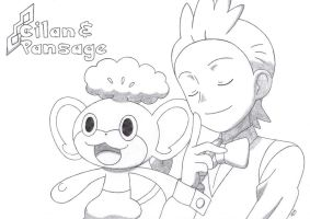 Cilan and Pansage of Striaton City