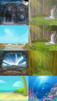 some backgrounds by scrii