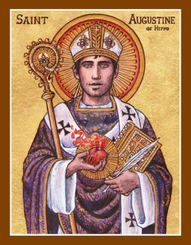 St. Augustine of Hippo icon by Theophilia