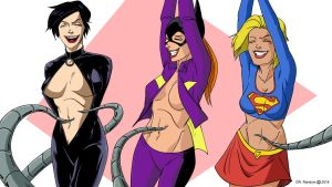 Catwoman, Batgirl, and Supergirl tickled by Dr-Willard