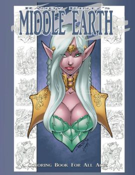 Middle-Earth Coloring Book Front Cover by rantz