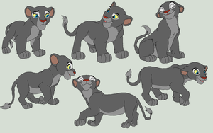 Lion Cub Bases 3 by AnarsAdoptionAgency