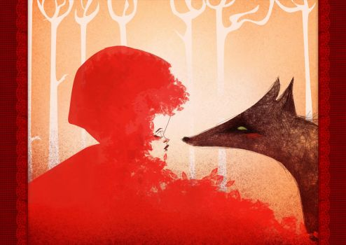 Red Riding Hood and the Wolf by Huguettepizzic