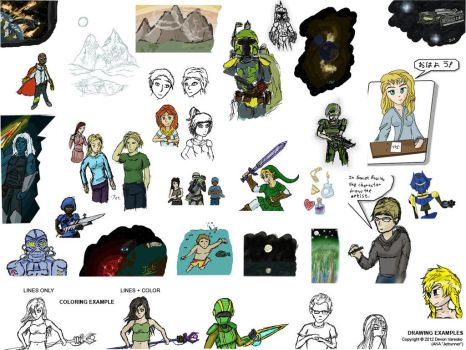 iScribble.net Examples Compilation 1 by Jetrunner