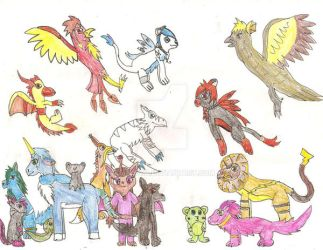 Animal Group Picture by Daiasita