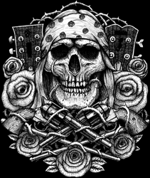Guns and Roses Jam Tribute band merch by GrimsoulArt
