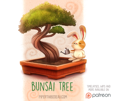 Daily Paint 1527. Bunsai Tree by Cryptid-Creations