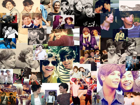 Larry Stylinson collage. by rainbowdoodler