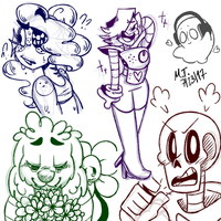 Undertale Doodles by NajikaSun