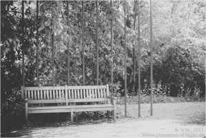 ::bench b/w:: by Phantom-of-light
