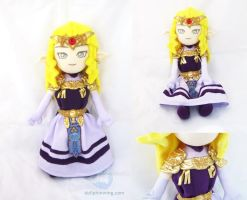 Princess Zelda Ocarina of Time Ver. Plushie by dollphinwing