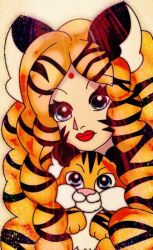 Tiger Girl by MelodiyaMoon