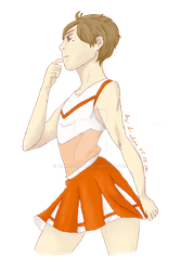 cheerleader Suga... and his awesome thighs by Chime-chan