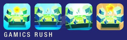 Gamics Rush - set of icons for the new version by polarbeardgames