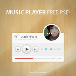 Music Player PSD (Free) by anhgreen123