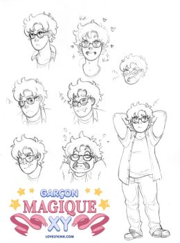 Garcon Magique XY - Alexander character sketch by lovelykink