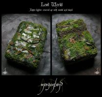 'Lost World' - Reclaimed zippo lighter by morgenland