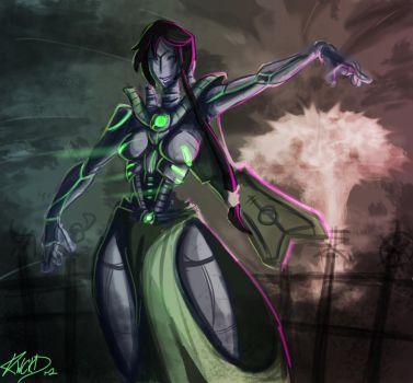 Xeno painting by WickedStar