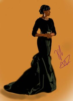 Live your life out loud- Michelle Obama by blackpride-brownlove