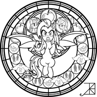SG: Flutterbat: coloring page by Akili-Amethyst