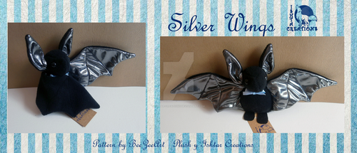 Silver Wings Bat by Ishtar-Creations