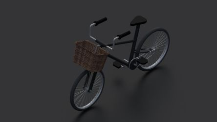 Lowpoly bicycle by KhaledReese