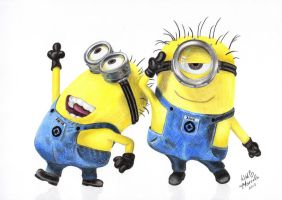 Minions (Steve and Dave) by withlove-marcela