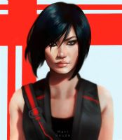 Mirror's Edge - Faith + Speedpaint by cosmogirll