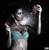 Giga Goddess Adriana Lima - Planet Killer by GiantessStudios101