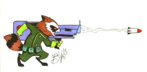 Rocket Raccoon by Numb-Numble