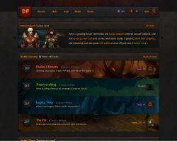 Diablo 3 Forum and Social Network - Home Page 2.0 by tombruceclayton
