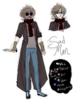 SLENDER-VERSE OC: Sad Man by VerenaVenus