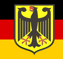 Germany Coat of Arms w Flag 3D by SyNDiKaTa-NP