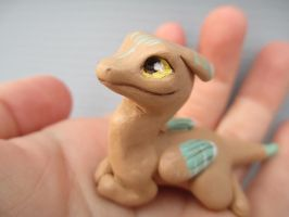 Baby Sand Dragon Sculpture by tallydragon