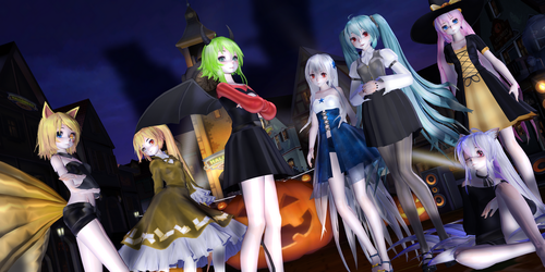 [MMD] Halloween Gifts 2016: 1st Part by traineeCross