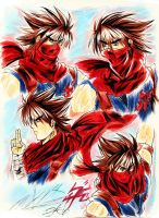 Hiryu illustration colored (REMAKE 2016) by Penzoom