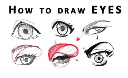 How to draw Eyes from Realistic to Anime style by reiq