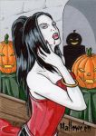 Hallowe'en Sketch Card 1 by ElainePerna
