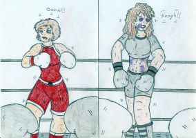 Boxing Alisa Selezneva vs Avariya by Jose-Ramiro