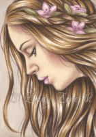 Summer's Flower ACEO by Zindy