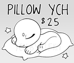 SLEEPY PILLOW YCH by elfkit