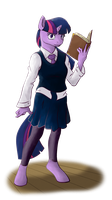 Anthro Twilight Sparkle by Acesential