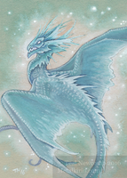 Aceo Frost Dragon by thedancingemu