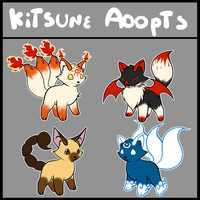 REDUCED PRICE- Kitsune Chibi Adopts -1/4 left! by Medral