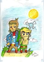 The Adventure of Link,Linebeck and Ciela by diaxa