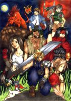 Tribute to Final Fantasy VII by RoydGriffin